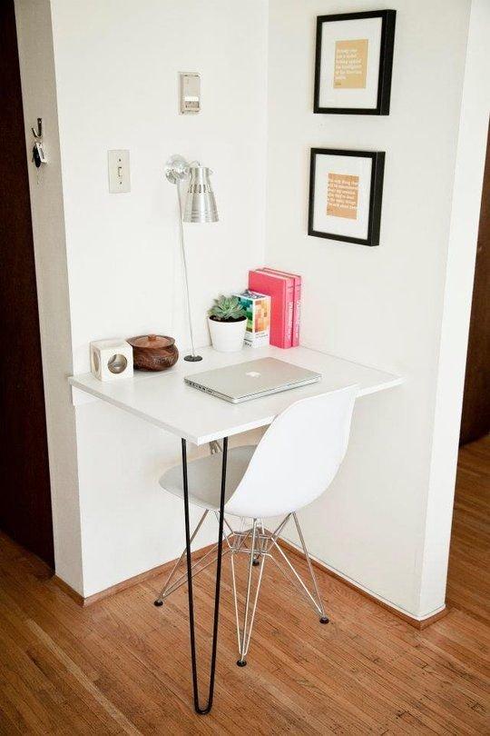 Фотография: Офис в стиле Скандинавский, Малогабаритная квартира, Квартира – фото на INMYROOM