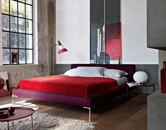 Фотография: Спальня в стиле Лофт, Квартира, Цвет в интерьере, Дома и квартиры, B&B Italia – фото на INMYROOM