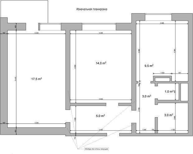Фотография:  в стиле , Планировки, Перепланировка, перепланировка двухкомнатной квартиры, перепланировка двушки, Дом сериии П-44Т, как обустроить двухкомнатную квартиру, дизайн двухкомнатной квартиры в панельном доме, двухкомнатная квартира в панельном доме, Викторина Смельницкая, Ольга Карякина, Architec, П44т – фото на INMYROOM