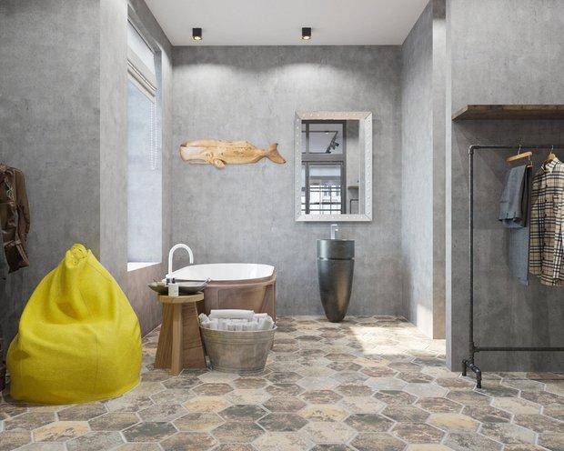 Фотография: Ванная в стиле Лофт, Гардеробная, Советы, Гид, Студия 3.14, Оксана Цымбалова, Quadro room, LINES, EDDS, Zi-Design – фото на INMYROOM