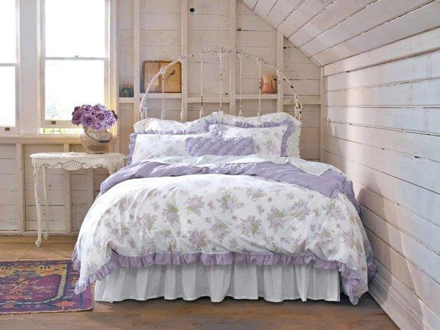 Фотография: Спальня в стиле , Декор интерьера, Декор дома, Цвет в интерьере, Белый, Ретро, Шебби-шик – фото на INMYROOM
