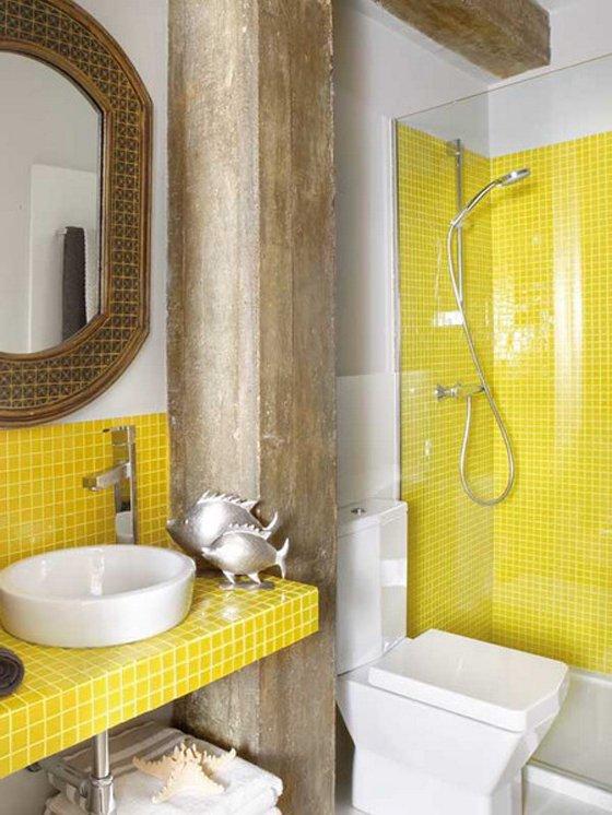 Фотография: Ванная в стиле , Декор интерьера, Дизайн интерьера, Цвет в интерьере, Желтый – фото на INMYROOM