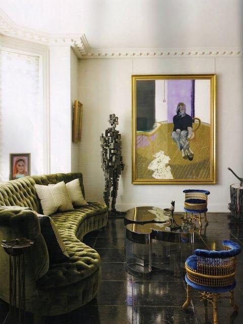 Фотография: Гостиная в стиле Эклектика, Декор интерьера, Дом, Декор дома, Цвет в интерьере – фото на INMYROOM