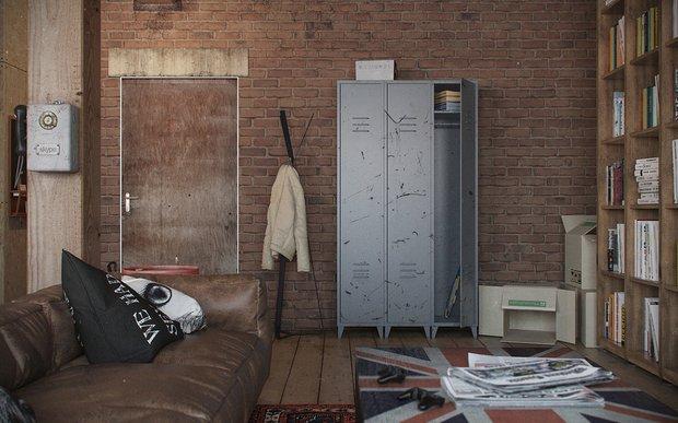 Фотография: Гостиная в стиле Лофт, Декор интерьера, Квартира, Дом, Советы, Бежевый, Серый, Коричневый – фото на INMYROOM