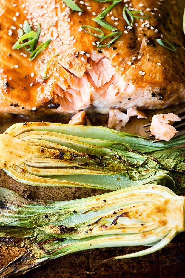 Фотография:  в стиле , Обед, Ужин, Основное блюдо, Здоровое питание, Рыба, Кулинарные рецепты, 30 минут, Японская кухня, Просто, Лосось, Запекание, Терияки – фото на INMYROOM