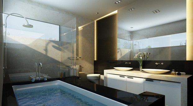 Фотография: Ванная в стиле Современный, Декор интерьера, Освещение, Мебель и свет – фото на INMYROOM