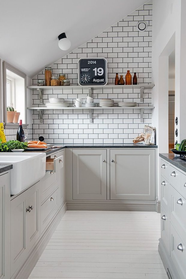 Фотография: Кухня и столовая в стиле Скандинавский, Малогабаритная квартира, Квартира, Советы – фото на INMYROOM