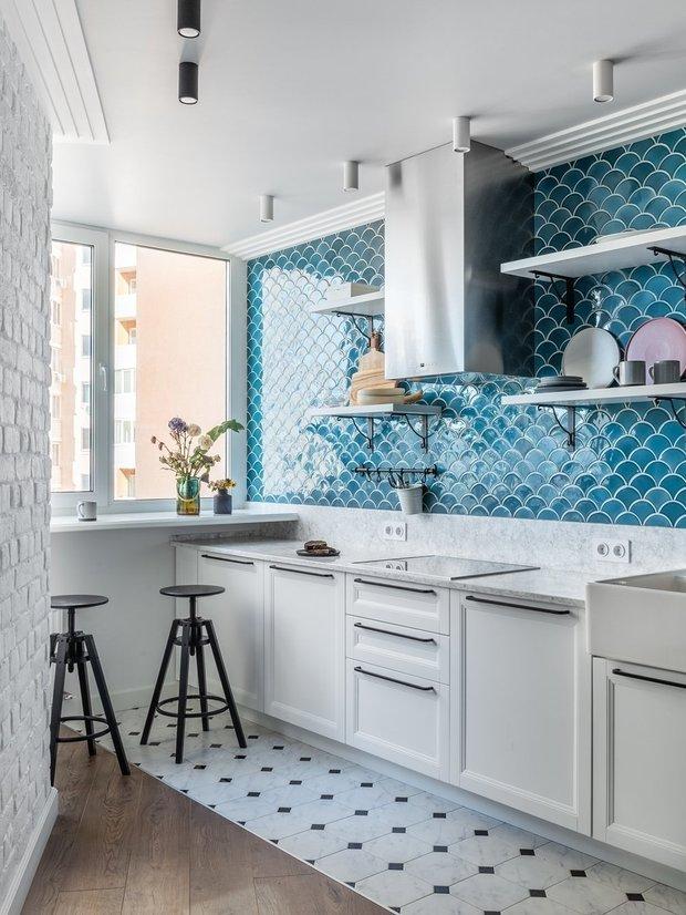 Фотография: Кухня и столовая в стиле Скандинавский, Советы, маленькая кухня, Ашан, Auchan – фото на INMYROOM