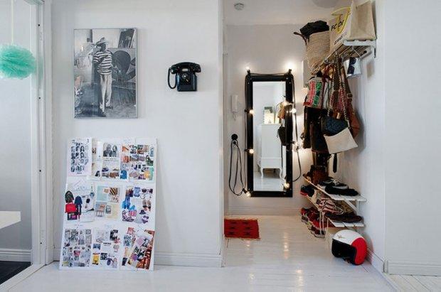 Фотография: Прихожая в стиле Скандинавский, Прованс и Кантри, Малогабаритная квартира, Квартира, Дома и квартиры, Стокгольм – фото на INMYROOM