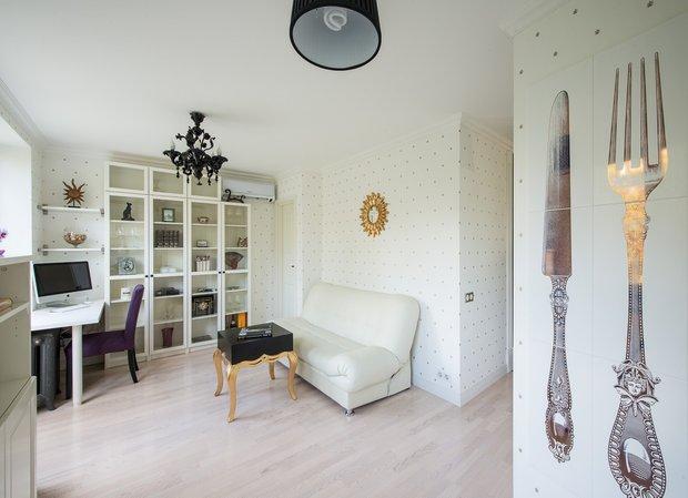 Фотография: Гостиная в стиле Классический, Современный, Эклектика, Малогабаритная квартира, Квартира, Декор, Дома и квартиры, IKEA, Проект недели – фото на INMYROOM