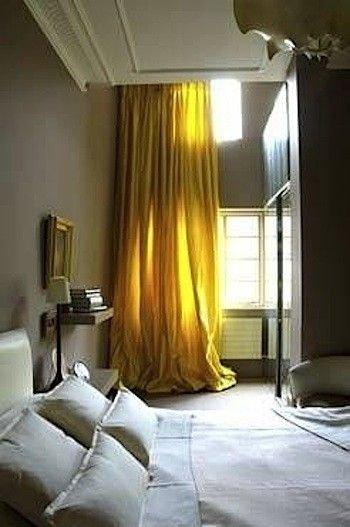 Фотография: Спальня в стиле , Декор интерьера, Дизайн интерьера, Цвет в интерьере, Желтый – фото на INMYROOM
