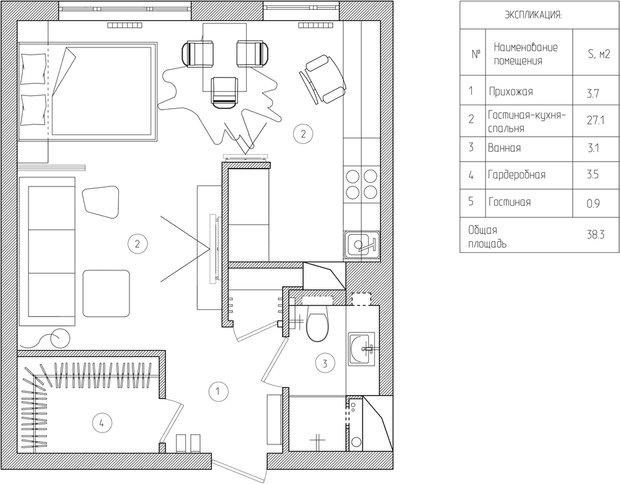 Фотография: Прочее в стиле Хай-тек, Малогабаритная квартира, Квартира, Дома и квартиры – фото на INMYROOM
