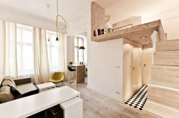 Фотография: Спальня в стиле Лофт, Малогабаритная квартира, Квартира, Дома и квартиры, Минимализм – фото на INMYROOM