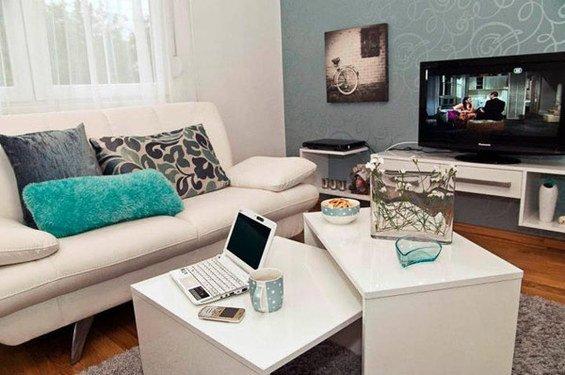 Фотография: Гостиная в стиле Современный, Скандинавский, DIY, Малогабаритная квартира, Квартира, Дома и квартиры – фото на INMYROOM