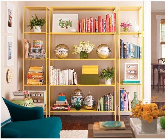 Фотография: Декор в стиле , Декор интерьера, Дизайн интерьера, Цвет в интерьере, Книги – фото на INMYROOM