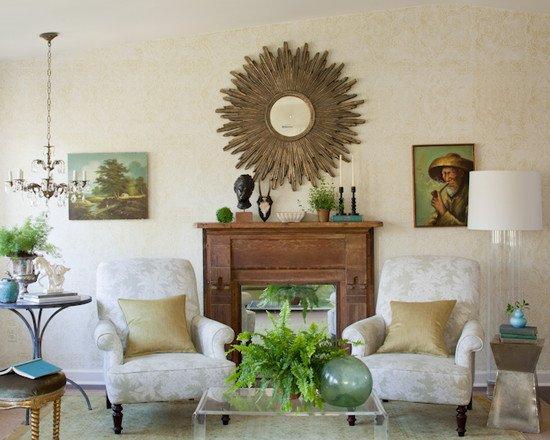 Фотография: Гостиная в стиле Прованс и Кантри, Декор интерьера, Декор дома, Камин – фото на INMYROOM