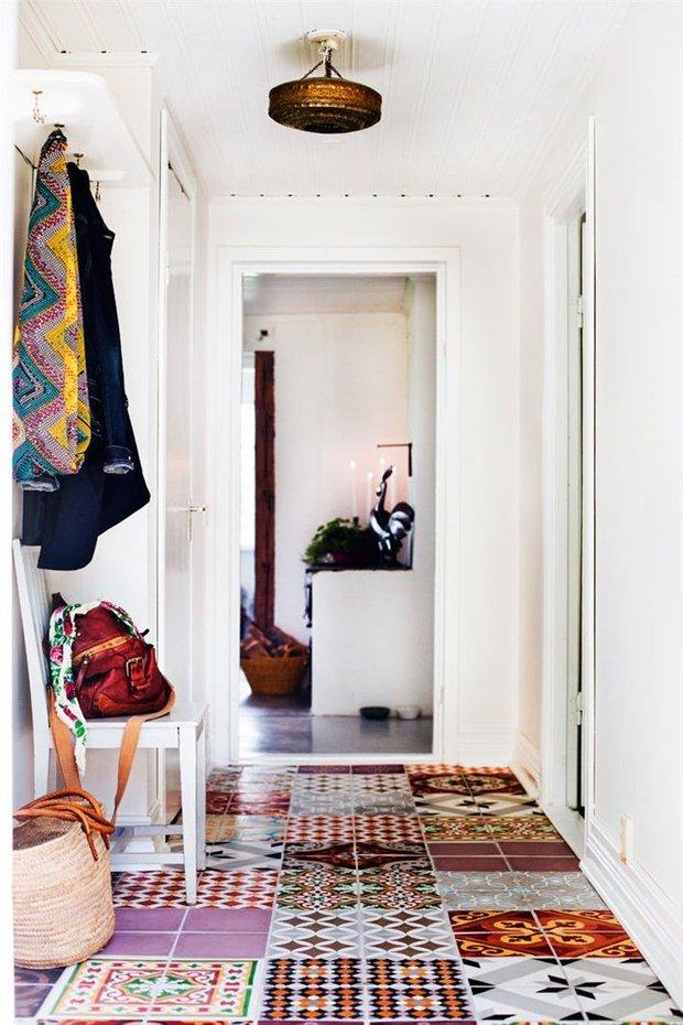 Фотография: Прихожая в стиле Скандинавский, Декор интерьера, Текстиль, Декор, Декор дома, Пэчворк – фото на INMYROOM