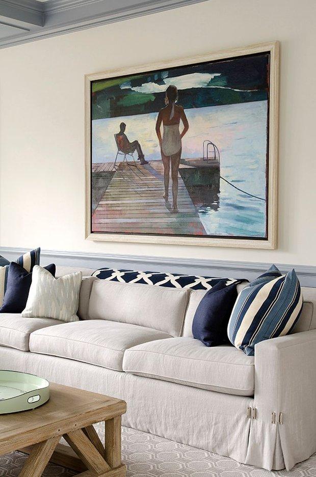Фотография: Гостиная в стиле Лофт, Декор интерьера, Дизайн интерьера, Декор, Цвет в интерьере, Морской – фото на INMYROOM