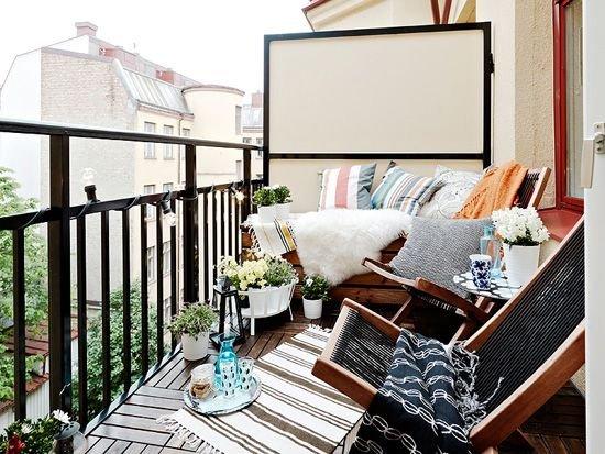 Фотография: Балкон, Терраса в стиле Прованс и Кантри, Скандинавский, Современный, Интерьер комнат – фото на INMYROOM