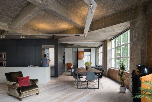 Фотография: Кухня и столовая в стиле Современный, Лофт, Квартира, Дома и квартиры, Проект недели – фото на INMYROOM