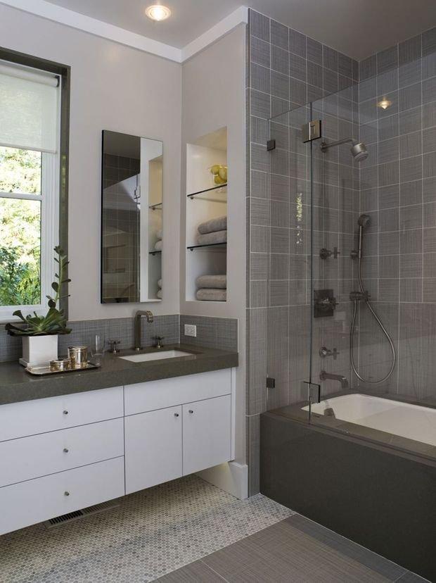 Фотография: Кухня и столовая в стиле Современный, Ванная, Квартира, Дом, Планировки, Ремонт на практике – фото на INMYROOM