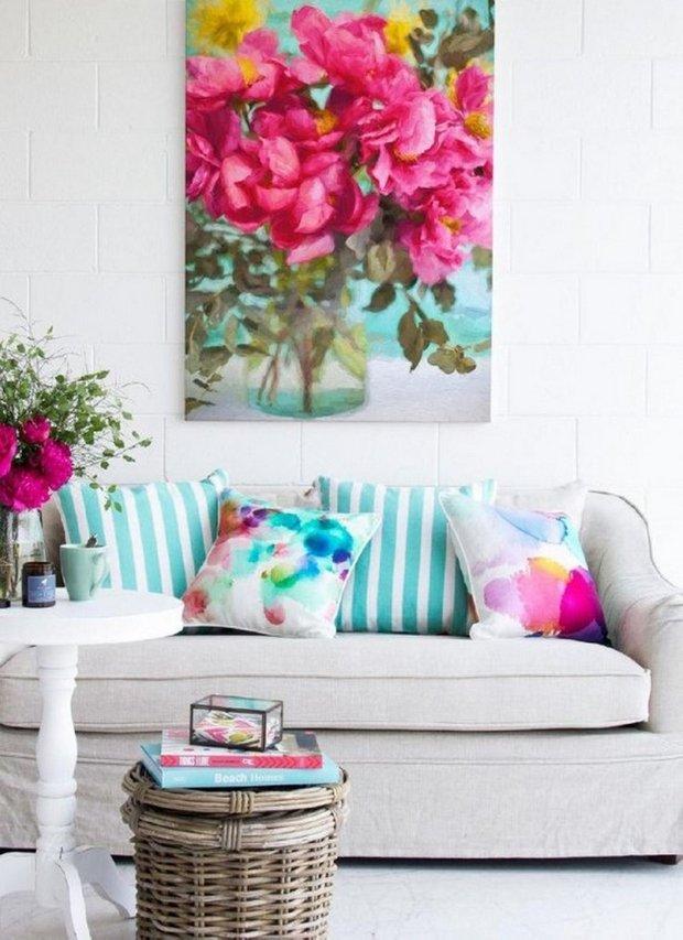 Фотография:  в стиле , Декор, Советы, Зеленый, Желтый, Розовый, Голубой – фото на INMYROOM