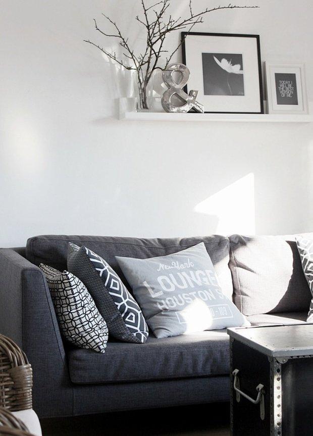 Фотография: Гостиная в стиле Скандинавский, Декор интерьера, Текстиль – фото на INMYROOM