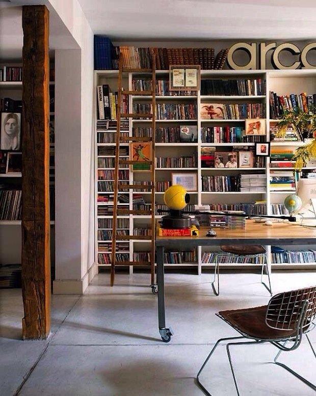 Фотография: Офис в стиле Лофт, Декор интерьера, Декор дома, Библиотека – фото на INMYROOM