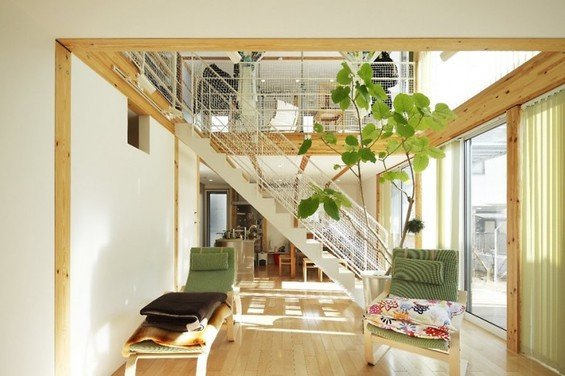 Фотография: Гостиная в стиле Современный, Эко, Дом, Дома и квартиры, Япония – фото на INMYROOM