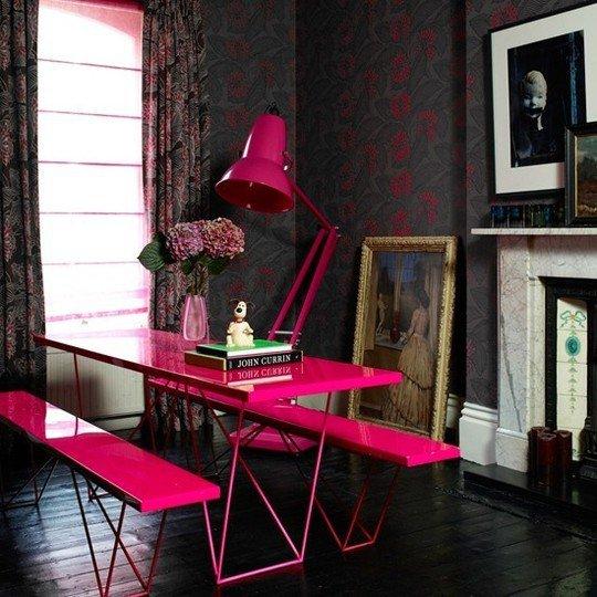 Фотография: Офис в стиле Современный, Эклектика, Декор интерьера, Дизайн интерьера, Цвет в интерьере, Желтый, Розовый, Оранжевый, Неон – фото на INMYROOM