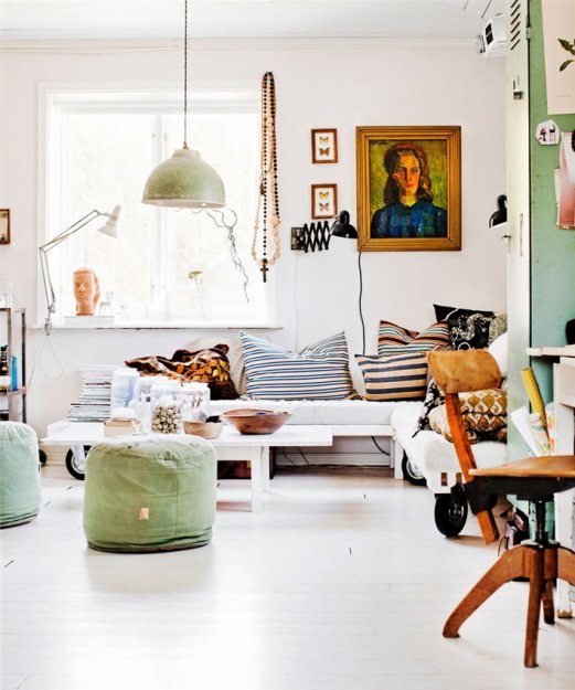 Фотография: Гостиная в стиле Скандинавский, Дом, Швеция, Дома и квартиры – фото на InMyRoom.ru