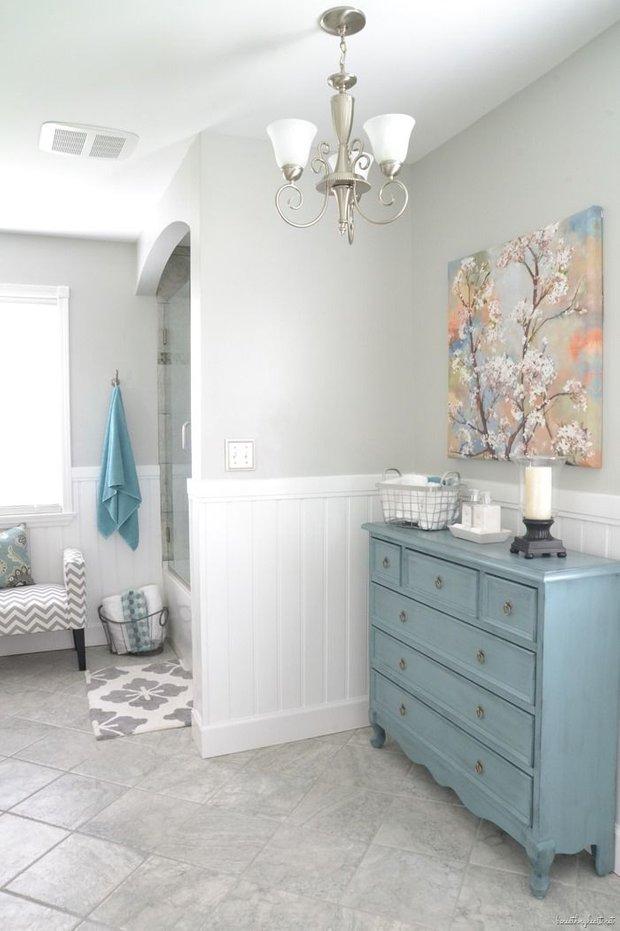 Фотография: Мебель и свет в стиле Скандинавский, Ванная, Интерьер комнат – фото на INMYROOM