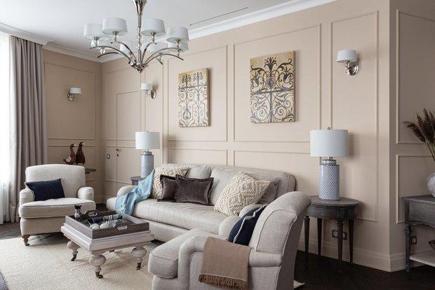 Фотография: Гостиная в стиле Эклектика, Советы, CoolaginDesign, Артем Кулагин, оформление стен, обои или краска – фото на INMYROOM