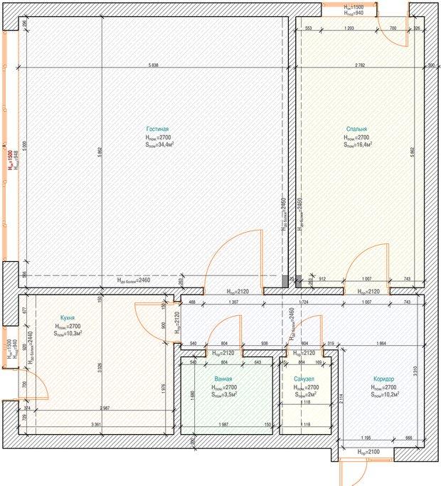 Фотография: Кухня и столовая в стиле Современный, Хай-тек, Классический, Квартира, Планировки, Мебель и свет, Проект недели – фото на INMYROOM