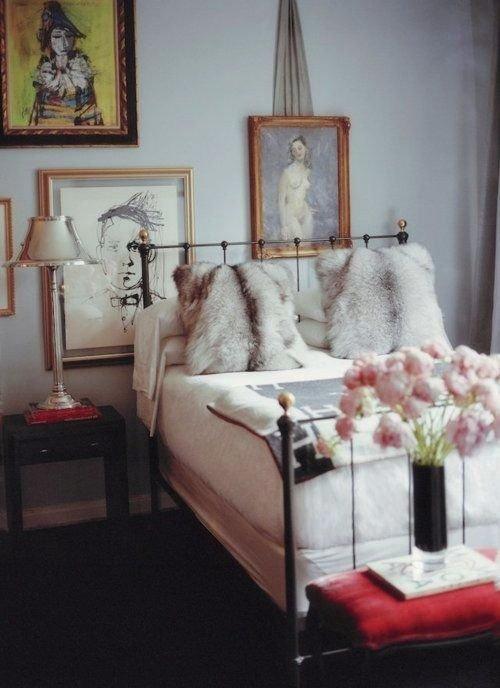 Фотография: Спальня в стиле Прованс и Кантри, Декор интерьера, Текстиль, Декор, Текстиль – фото на INMYROOM