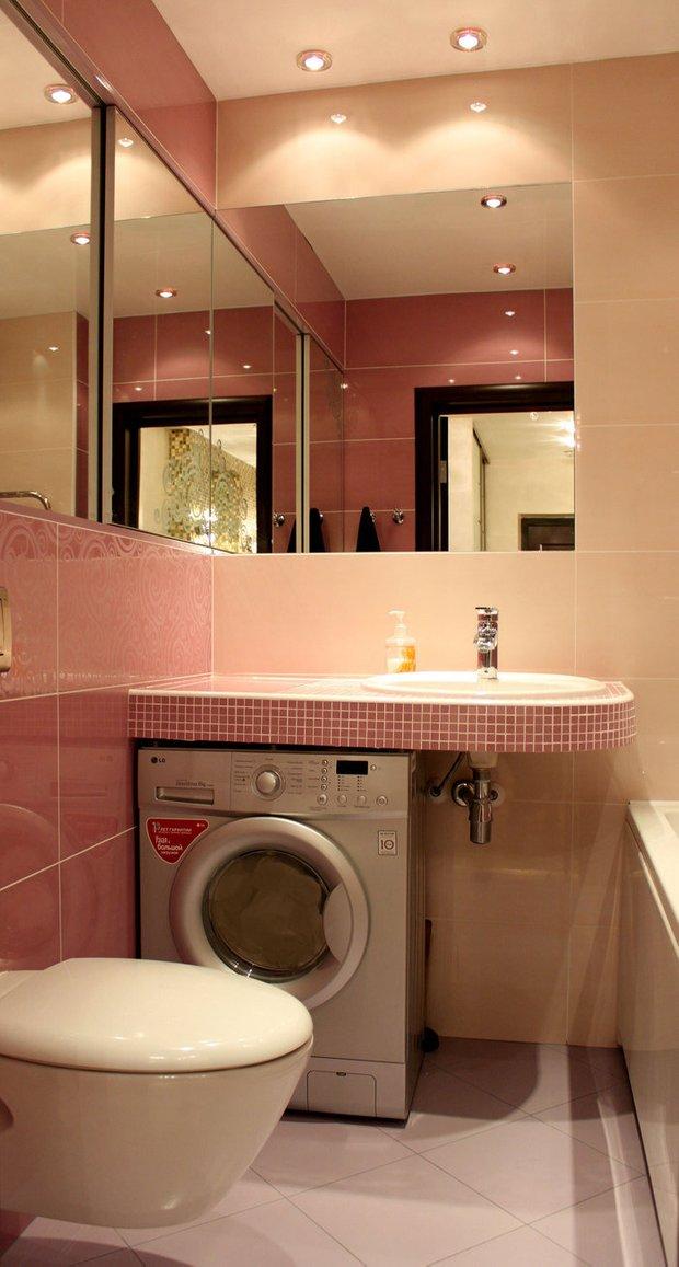 Фотография: Ванная в стиле Современный, Малогабаритная квартира, Интерьер комнат, Советы – фото на INMYROOM