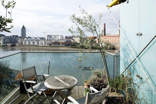 Фотография: Балкон, Терраса в стиле Современный, Квартира, Дома и квартиры, Лондон, Панорамные окна – фото на INMYROOM