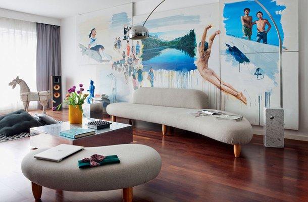 Фотография: Гостиная в стиле Современный, Дизайн интерьера, Цвет в интерьере, Советы, Поп-арт – фото на INMYROOM