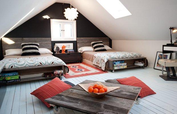 Фотография: Спальня в стиле Восточный, Дом, Чердак, Мансарда – фото на INMYROOM