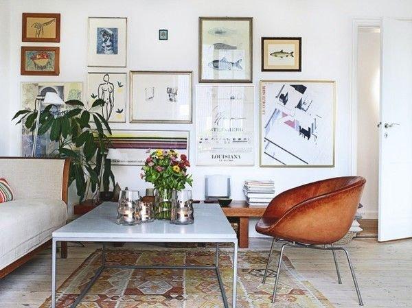 Фотография: Гостиная в стиле Скандинавский, Декор интерьера, Декор дома, Стены, Картины, Постеры – фото на INMYROOM