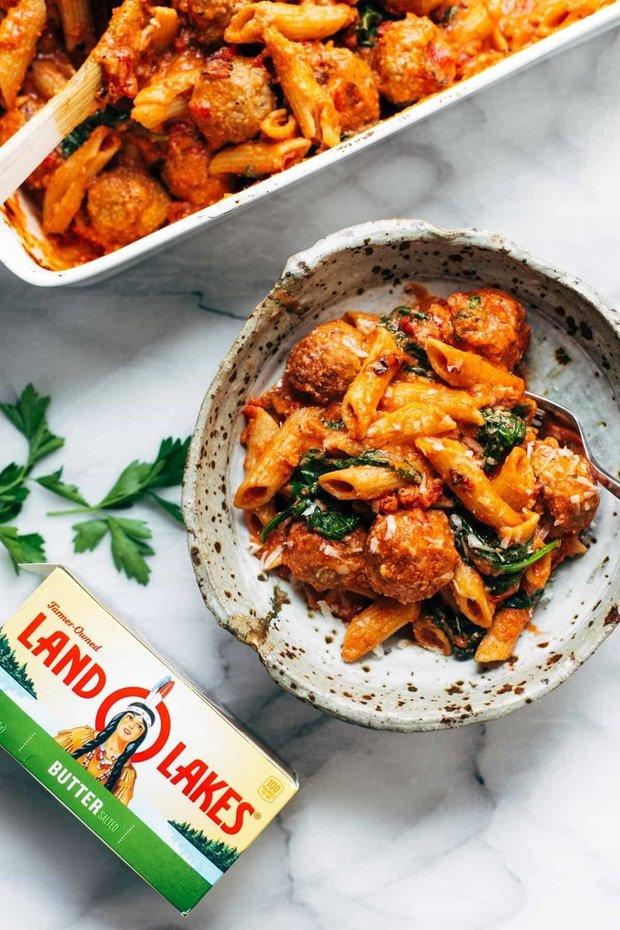 Фотография:  в стиле , Обед, Основное блюдо, Паста, Мясо, Фарш, Итальянская кухня, Кулинарные рецепты, 45 минут, Просто, Запекание – фото на INMYROOM