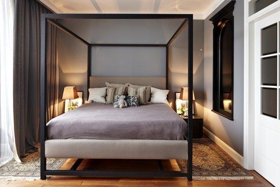 Фотография: Спальня в стиле Современный, Классический, Эклектика, Квартира, Дома и квартиры – фото на INMYROOM