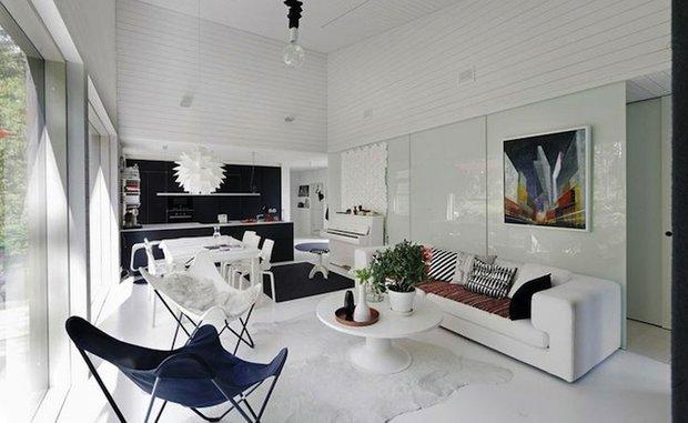 Фотография: Гостиная в стиле Лофт, Современный, Цвет в интерьере, Стиль жизни, Советы, Белый – фото на INMYROOM