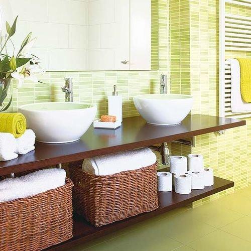 Фотография: Ванная в стиле Современный, Декор интерьера, Дизайн интерьера, Декор, Зеленый, Ванна, Эко – фото на INMYROOM