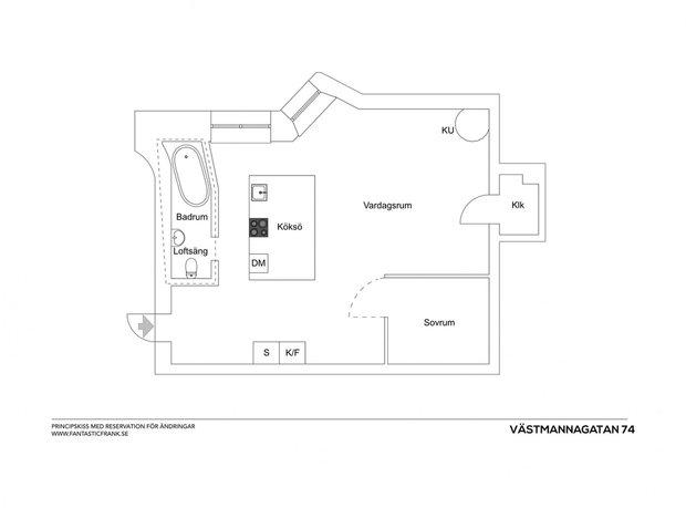 Фотография:  в стиле , Скандинавский, Декор интерьера, Малогабаритная квартира, Квартира, Студия, Швеция, Стокгольм – фото на INMYROOM