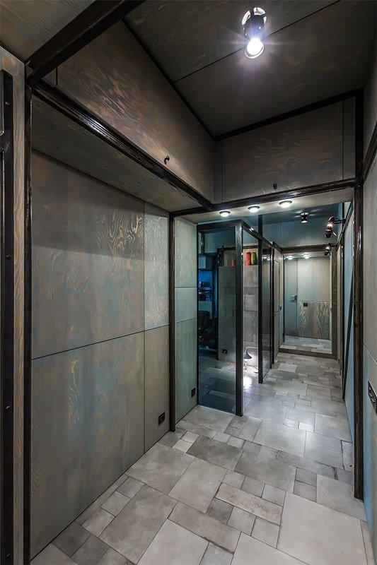 Фотография: Прихожая в стиле Современный, Хай-тек, Интерьер комнат, Переделка, Индустриальный – фото на INMYROOM