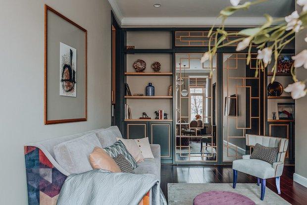 Фотография:  в стиле , Гостиная, Гид, маленькая гостиная – фото на INMYROOM