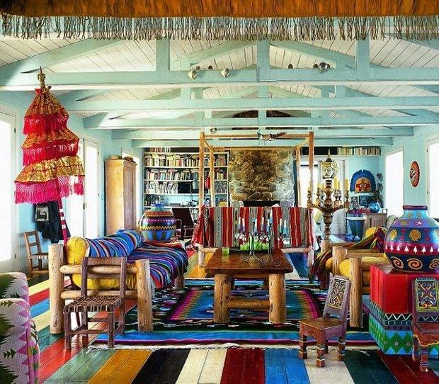Фотография: Гостиная в стиле , Эклектика, Декор интерьера, Декор дома, Цвет в интерьере, Геометрия в интерьере – фото на INMYROOM