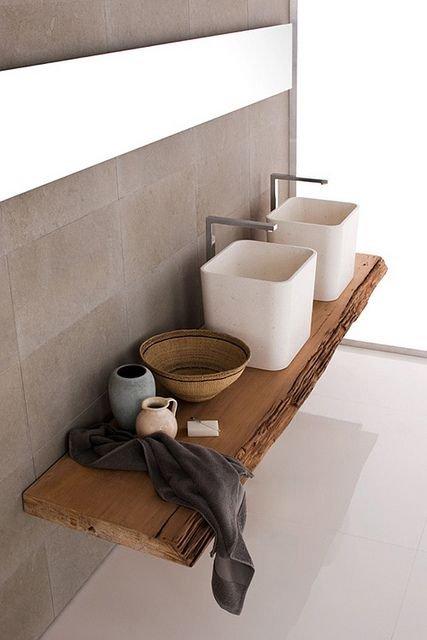 Фотография: Ванная в стиле Современный, Эко, Декор интерьера, Квартира, Декор, Советы, раковина, раковина в ванной – фото на INMYROOM