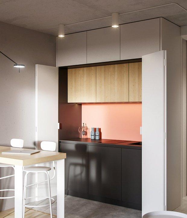 Фотография: Кухня и столовая в стиле Минимализм, Советы, Гид, хранение в квартире, однушка – фото на INMYROOM